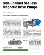 Side Channel Sealless Pumps Article